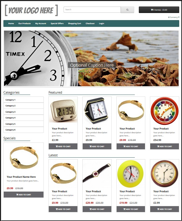 eCommerce Website Gold Package